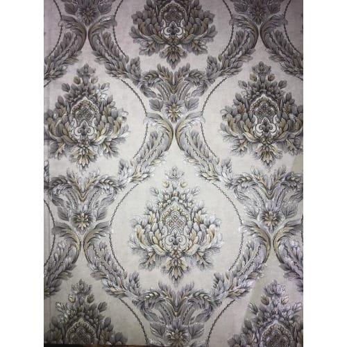 3d Wallpaper, Wall Decor -grey And Silver Royal Effect - 5.3sqm