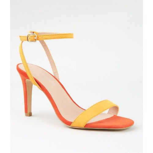 7f881f3b4fd Stiletto Heel Sandals - Orange & Yellow