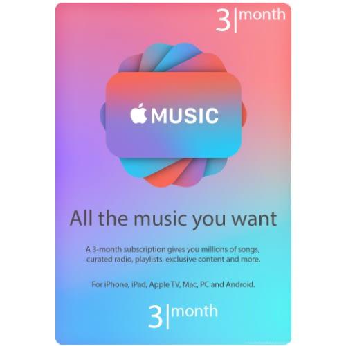 Apple Itunes Music 3 Months Membership Gift Card Usa Konga Online Shopping