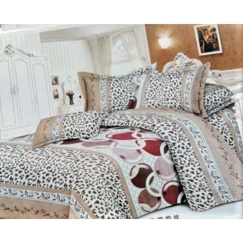 Multi-Patterned Floral Bedding Set (1 Duvet- 1 Bedsheet & 4 Pillowcases)