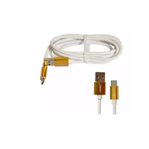 USB Data Sync & Charger Cable For Android - Gold