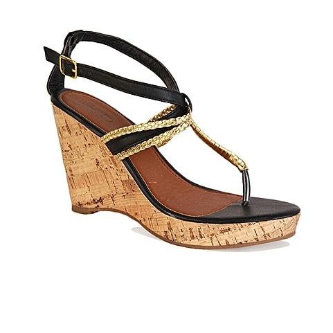 a5c0e604c62c DEB Women s Wedge Sandals - Black   B..
