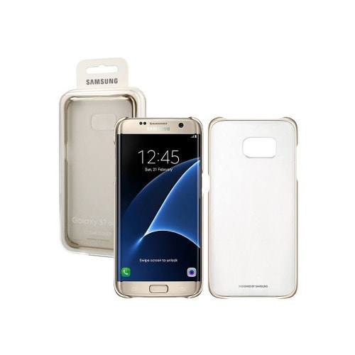 official photos 7d0be b2631 Original Cover For Galaxy S7 Edge Clear Case - Gold