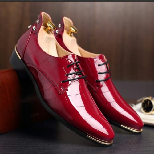 Red Men's Oxford Shoes