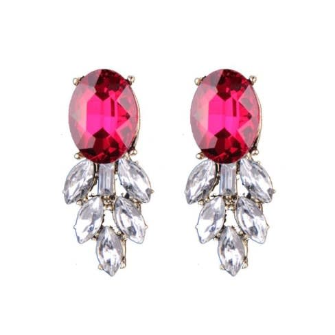 Crystal Stud Earrings.