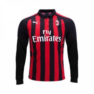 hot sales 1c2ef fc6b0 AC Milan Home Longsleeve Shirt 2018/2019 - Multicolour