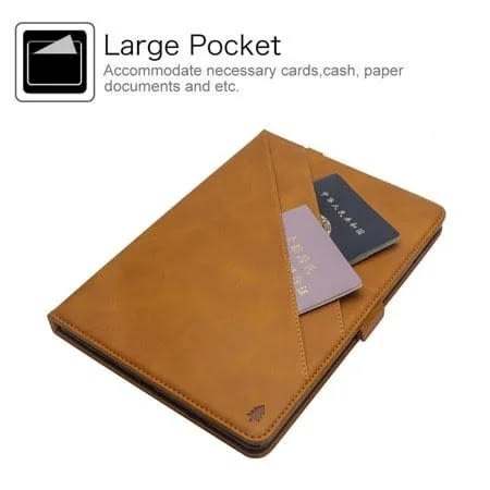brand new 39ad9 9174c Leather Cards Holder Case With Apple Pencil Holder For iPad Pro 12.9