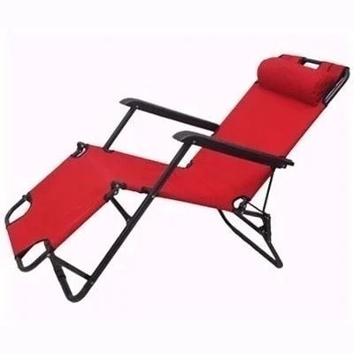 Wondrous Foldable Lounge Chair Red Pabps2019 Chair Design Images Pabps2019Com