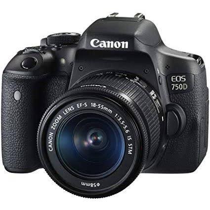 750d Camera 18-55mm Lens