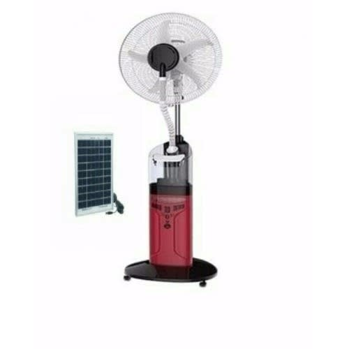 "18"" Rechargeable Mist Fan + 20 Watts Solar Charger"