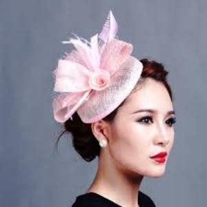 cd24698a6eec2 Fascinators   Sinamay Hats.  E d Edge-Baby-Pink-Fascinator-8076496.jpg