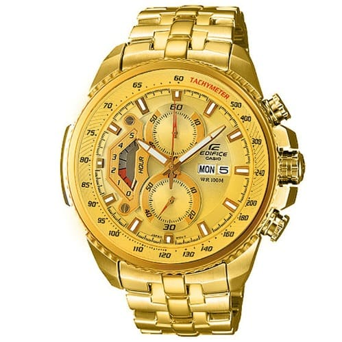 Casio Edifice 558 Chronograph Watch - Gold  30d2a5a81442
