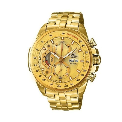 1550b1ac188 Casio Edifice EF 558 Gold Tone Chronograph Watch