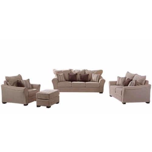 Elegant Fabric Sofa   Beige