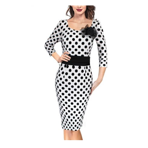/E/l/Elegant-Polka-Dot-Floral-Vintage-Pinup-3-4-Sleeve-Dress-With-Broach---White-8001958.jpg