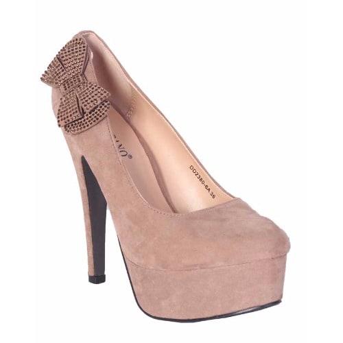 Tulipano Embellished Bow Platform Shoes