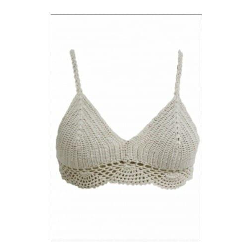 Emfed Khaki Crochet Cami Bralette Top White Konga Online Shopping