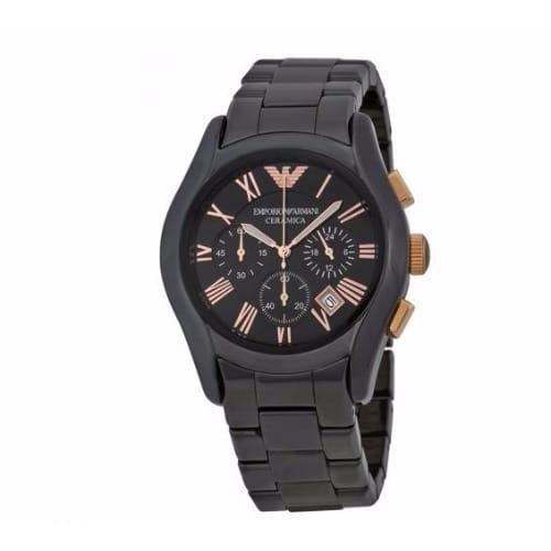 af953723d Emporio Armani Ceramica Chronograph Black Dial Black Ceramic Men's ...