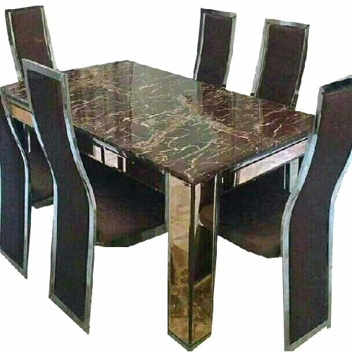 Miraculous Executive Marble Dining Table With 6 Chairs Beutiful Home Inspiration Xortanetmahrainfo
