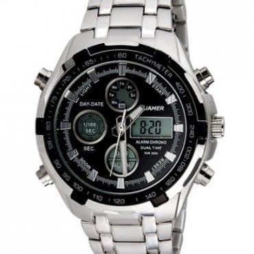b7ff1b3d7039 Quamer Executive Men s Black Dial Chain Watch