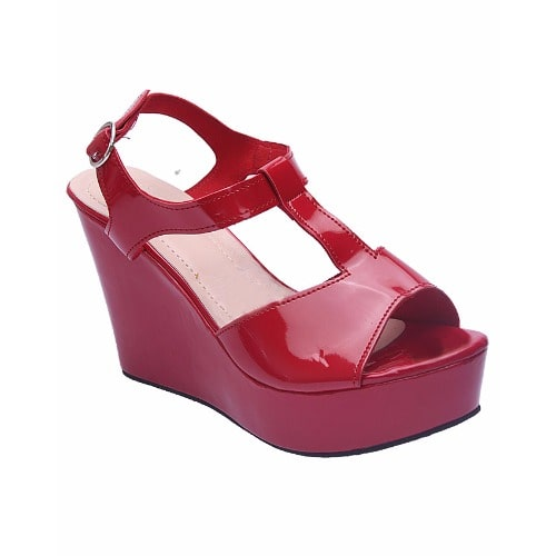 15cd90e6dac Exotic Simple Ladies Wedge Sandals -Red