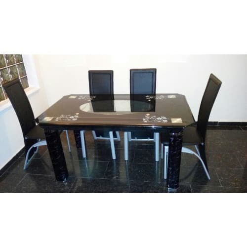 Exquisite 6 Seater Dining Set 6 Chairs Black Konga Online Shopping