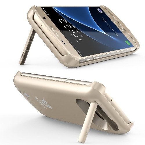 low priced bb893 bf90c Extended Charging Case for Samsung Galaxy S6 Edge - Gold