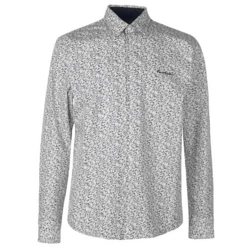 84b77ec7ffbe49 Pierre Cardin Floral Long Sleeve Shirt White   Konga Online Shopping
