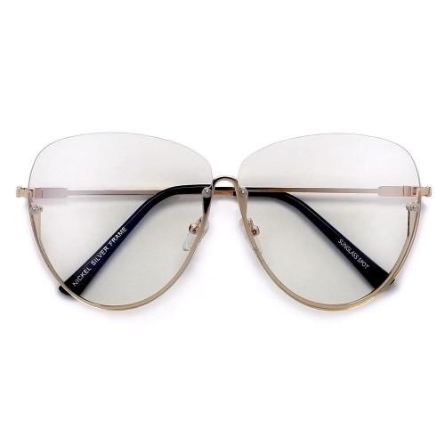 1556626f44d Oversize Semi-rimless Glasses- Gold