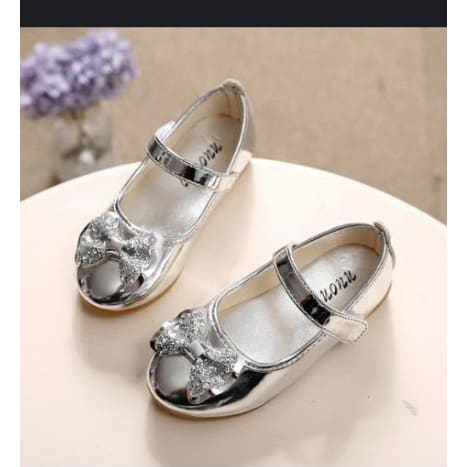 Flat Loafer Shoes - Silver   Konga