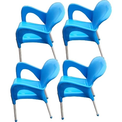 4 Pieces Of Igwe Plastic Iron Leg Chair