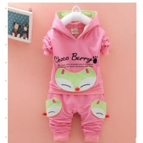 1c3571d86 Aile Rabbit Girls Hooded Sweat Shirt With Trouser - Pink | Konga ...