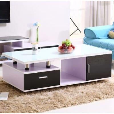 Black/white Living Room Center Table