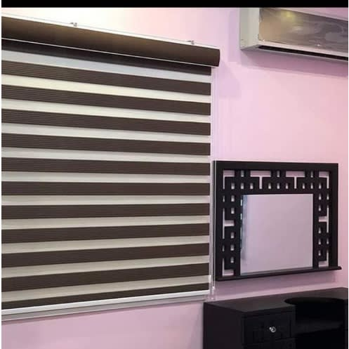 Pleated Day And Night Blinds Brown 1400 Width 1400 Height For 4ft 4ft Window