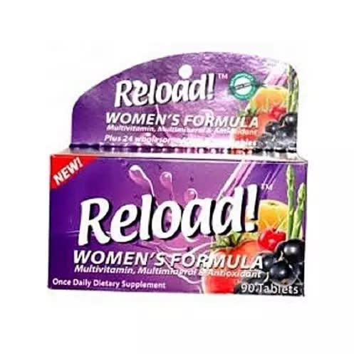 Reload! Women's Formula Multivitamin, Multi-mineral And Antioxidant 90 Tablet.