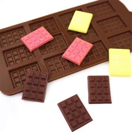 12 Even DIY Non-stick Silicon Chocolate Candy Molds.