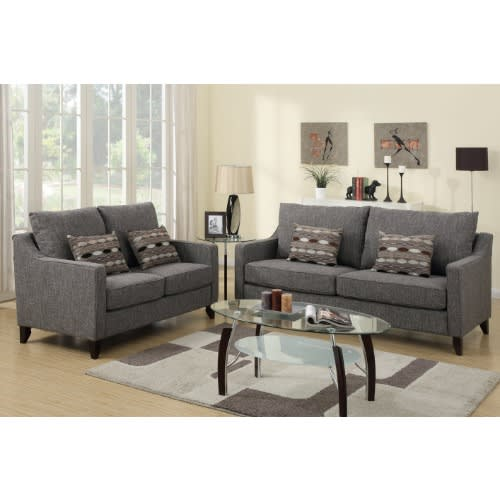 Pleasant Johnson Gray Sofa And Loveseat Set Lagos Delivery Only Interior Design Ideas Clesiryabchikinfo