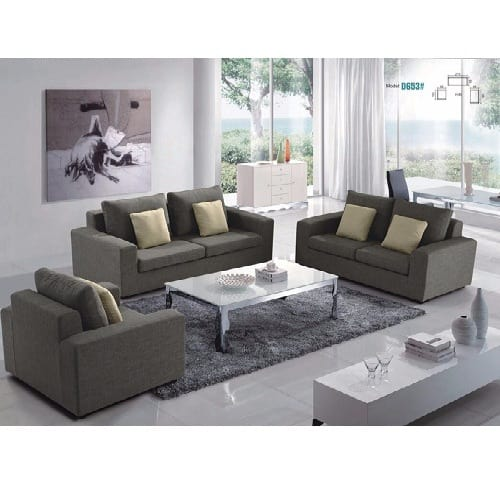 Incredible Fabric 7 Seater Sofa Set Grey Gmtry Best Dining Table And Chair Ideas Images Gmtryco
