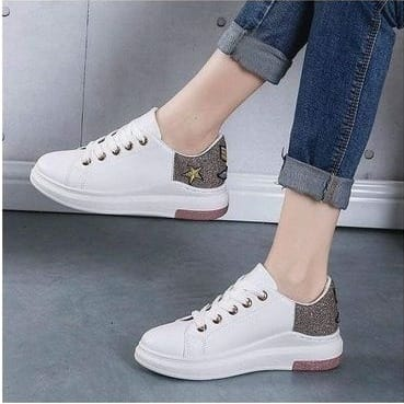 Female Star Sneaker - White   Konga