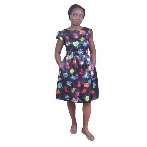 /F/i/Fit-And-Flare-Cap-Sleeve-Bag-Print-Dress---Black-7092601.jpg