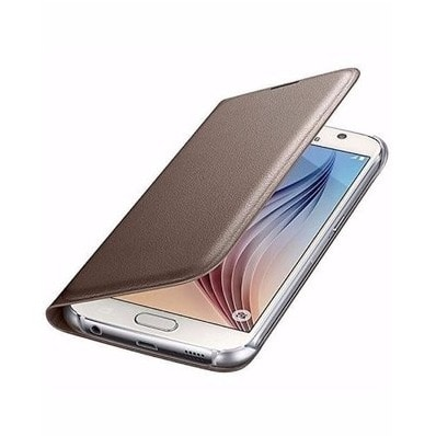 best website 06809 d0680 Flip Cover For Samsung Galaxy A3 2017 -Gold