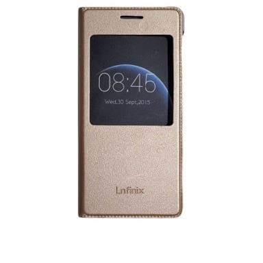 promo code 980d1 c2aa0 Flip Cover for Infinix Hot 4 pro - Gold