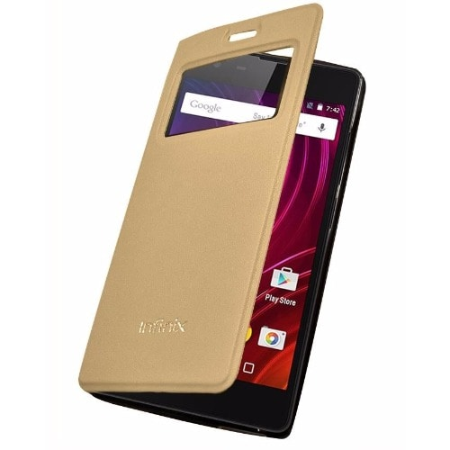 newest a7141 1b7b8 Flip Cover for Infinix Hot S - Gold | Konga Online Shopping