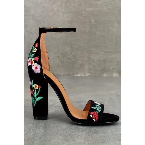 ... /F/l/Flowered-Designed-Heel-Sandals-Black-- ...