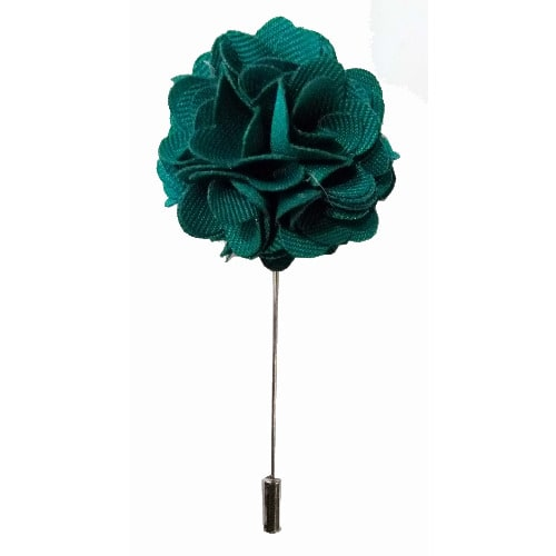 Flowered Lapel Pin-Dark Green
