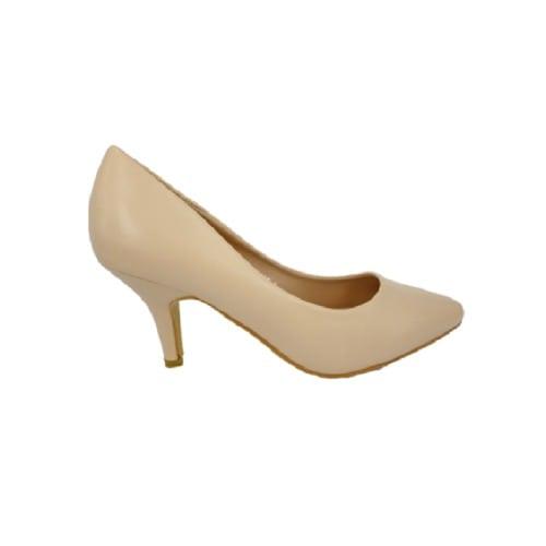 7486fb5a206 Focus Smooth / Matte Kitten Heel Shoes - Nude