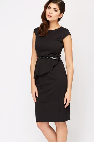 /F/r/Frill-Waist-Belted-Pencil-Dress---Black-3690993_6.jpg