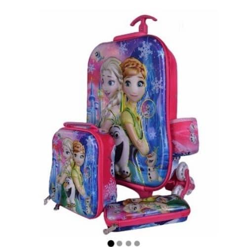 376ca13592b8 Frozen Kids Trolley Bag Lunch Box & Pencil Case