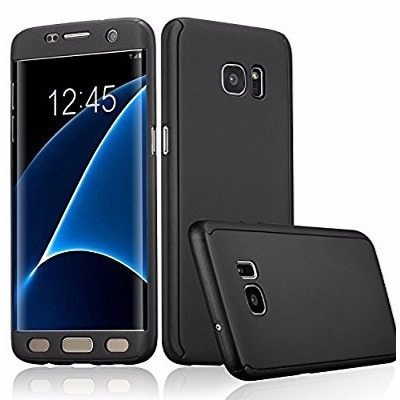 hot sales f3e89 cc4e5 Full Body Cover For Samsung Galaxy S7 Edge - Black