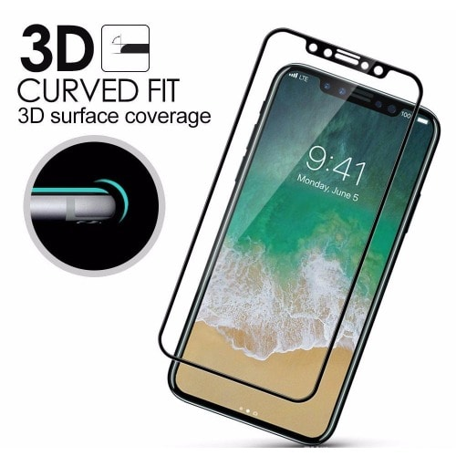 hot sale online 63de6 5a332 Full Cover 3D Glass Screen Protector For iPhone X
